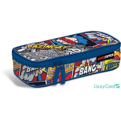 Bazinga ovális textil bedobálós tolltartó - Supercomics