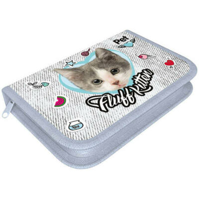 Pet Fluff Kitten cicás klapnis üres tolltartó