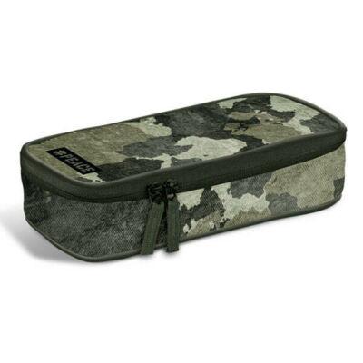 #Peace Forrest Military ovális bedobálós tolltartó belső gumipántos klapnival - terepmintás