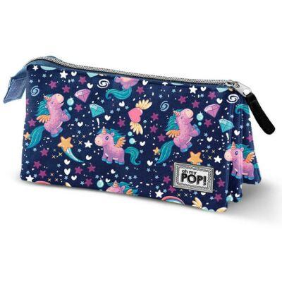 Oh my Pop Magic unikornis 3 rekeszes tolltartó kozmetikai táska