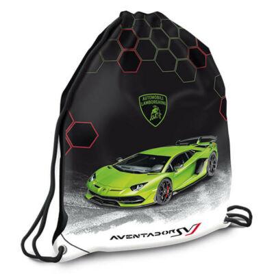 Lamborghini tornazsák - zöld sportkocsi