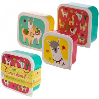 Láma & Alpaka uzsonnás doboz szett - 3 db-os uzsis doboz