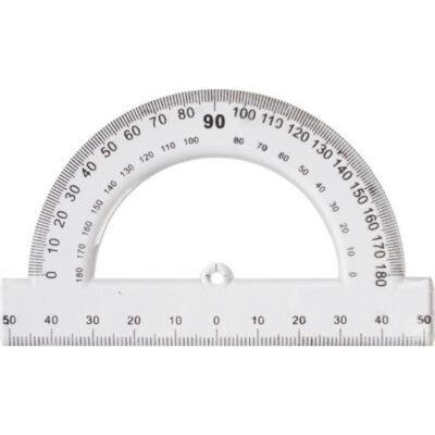 Szögmérő 180° műanyag 10 cm