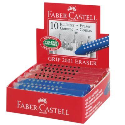 Radír - Faber-Castell Grip - háromszögletű - piros / kék