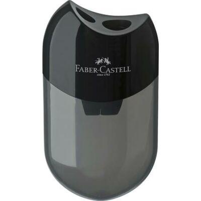 Kétlyukú tartályos hegyező  - Faber-Castell fekete