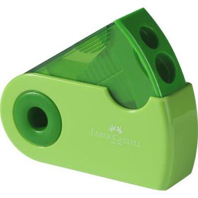 Kétlyukú tartályos hegyező  - Faber-Castell Sleeve zöld