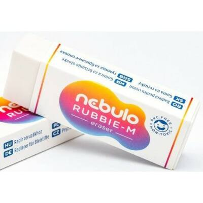 Nebulo radír papírtokban - Rubbie-M - forgácsmentes
