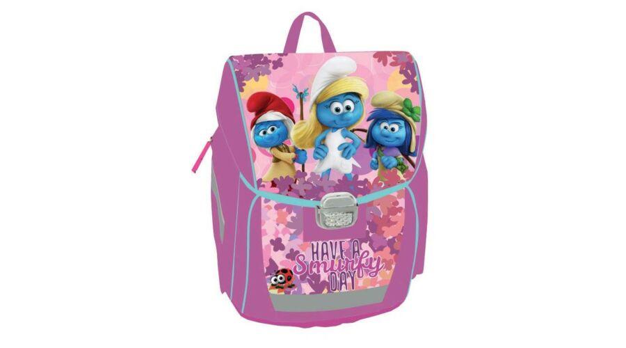 Hupikék Törpikék merevfalú ergonómikus hátizsák iskolatáska lányoknak 0695bbc7b2