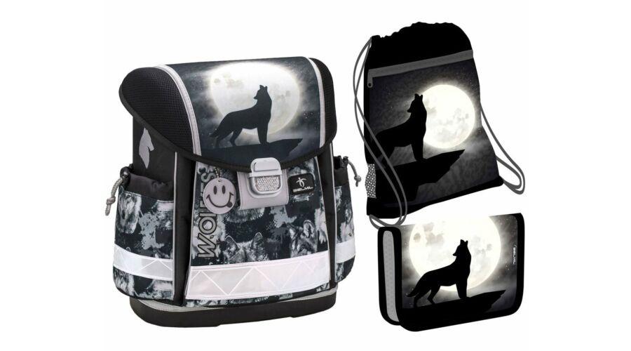 Belmil Classy Wolves Grey ergonomikus iskolatáska, hátizsák