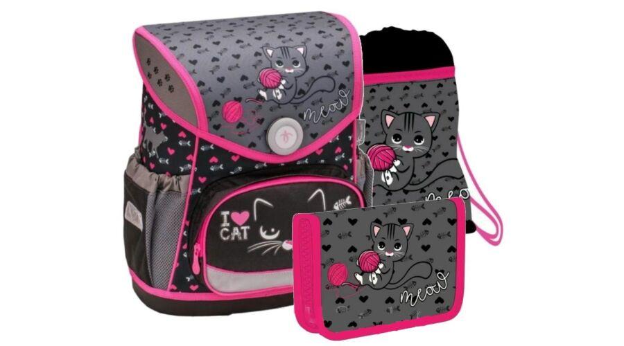 6b72d5a01146 Belmil Compact I love Cat cicás merevfalú iskolatáska szett Katt rá a  felnagyításhoz