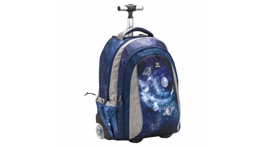 Belmil Trolley Easy go 2 in 1 gurulós iskolatáska hátizsák Universum holdra szállás