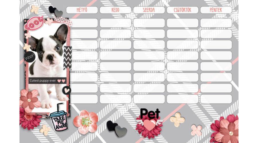 965d1405afe Pet, Woof órarend kicsi - kutyás